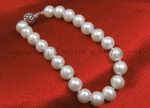 "New White 9-10mm Genuine Natural White Freshwater Pearl Bracelet Ball Clasp 7.5/"""