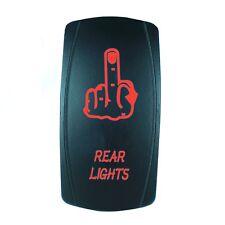 RED 2 POSITION ROCKER SWITCH LASER ETCHED 20A 12V LED FINGER OFFROAD
