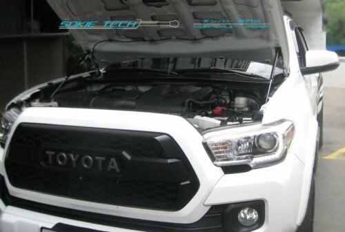 Black Strut Gas Lifter Hood Damper Sainless Kit for 2016-2019 Toyota Tacoma N300