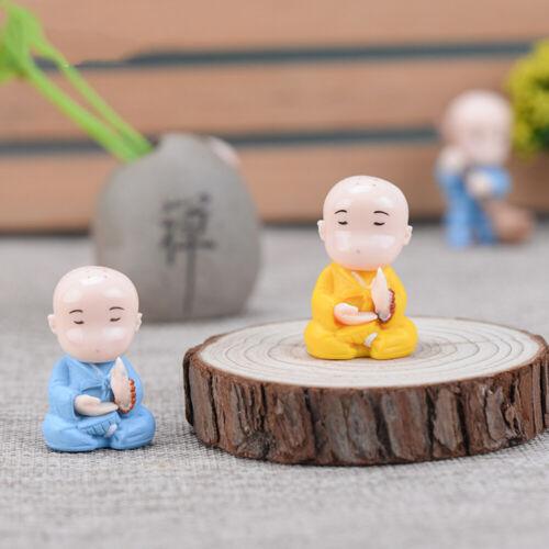Garden Bonsai  Miniature Samanera Chinese Style Buddha Statue Monk Figurine