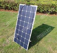 Semi Flexible Sunpower Solar Panel 18v 100w Rv Boat Marine Battery