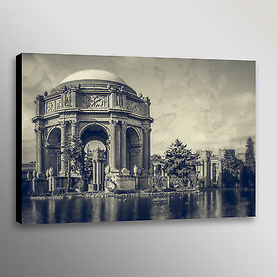PALACE OF FINE ARTS AT NIGHT SAN FRANCISCO PAINTING ART REAL CANVAS GICLEE PRINT