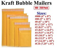 SuperPackage® 100 #0 6.5 X 10 Kraft Bubble Mailers Padded Envelopes 100KB0