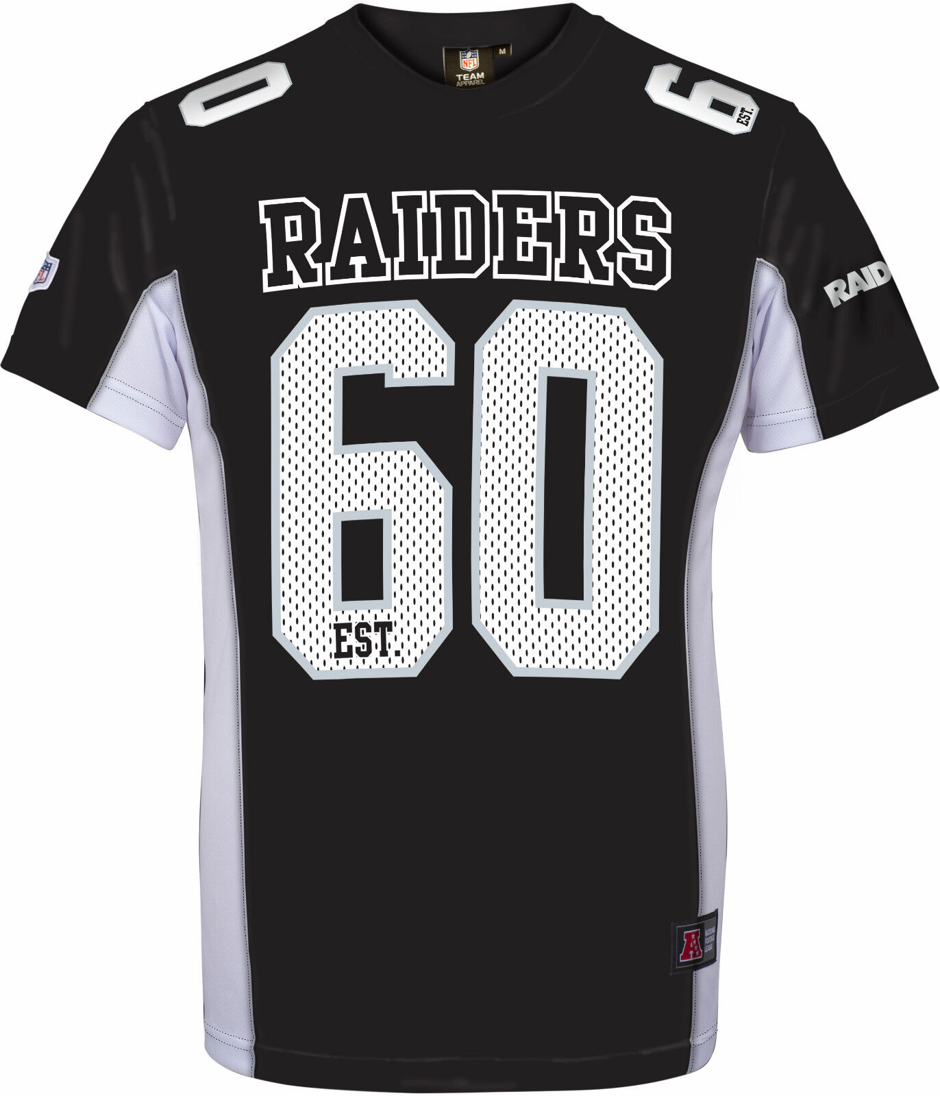 NFL FOOTBALL MAGLIA SHIRT JERSEY JERSEY JERSEY OAKLAND RAIDERS 60 moro nero established 35dc10