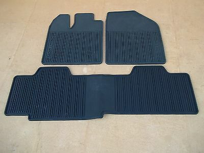 2011 2012 2013 2014 FORD EDGE ALL WEATHER FLOOR MAT 3 PIECE SET BLACK