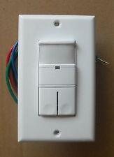 2 Pole Occupancy Vacancy Wall Motion Sensor 120v 277vac 2p Dual Switch White