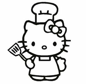 Image Is Loading HELLO KITTY Cook Apron CHEF Hat Decal Sticker