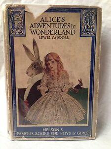 Lewis-Carroll-Helen-Monro-Alice-039-s-Adventures-in-Wonderland-Scarce-DW-1930s
