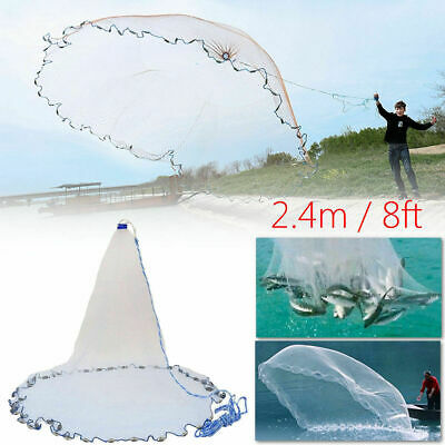 Nylon Monofilament American Style Cast Hand Throw Fishing Mesh Net Outdoor