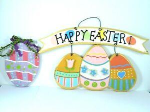 Buona-Pasqua-parete-porta-segno-arredamento-legno-dipinto-a-mano-le-uova-PASTELLO