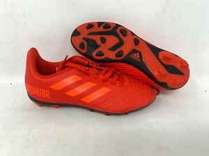 NEW-Adidas-Youth-Boy-039-s-PREDATOR-19-4-FLEXIBLE-Soccer-Cleats-Red-CM8541-B10-tz
