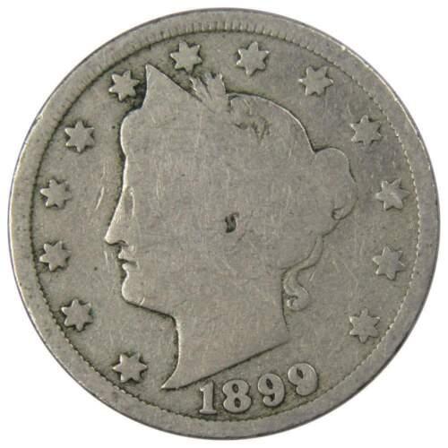 1899 5c Liberty V Nickel US Coin Genuine