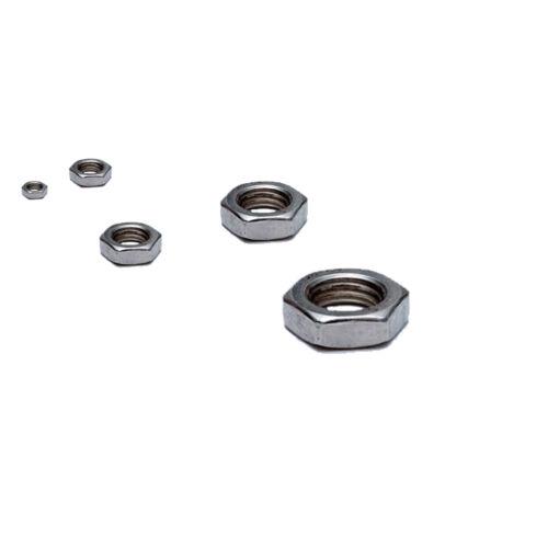 Half Lock Nuts M6 6mm Internal Diameter A4 Stainless Steel