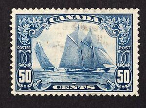 Canada-Used-1929-Scott-158-Schooner-Bluenose-Nicely-Centered