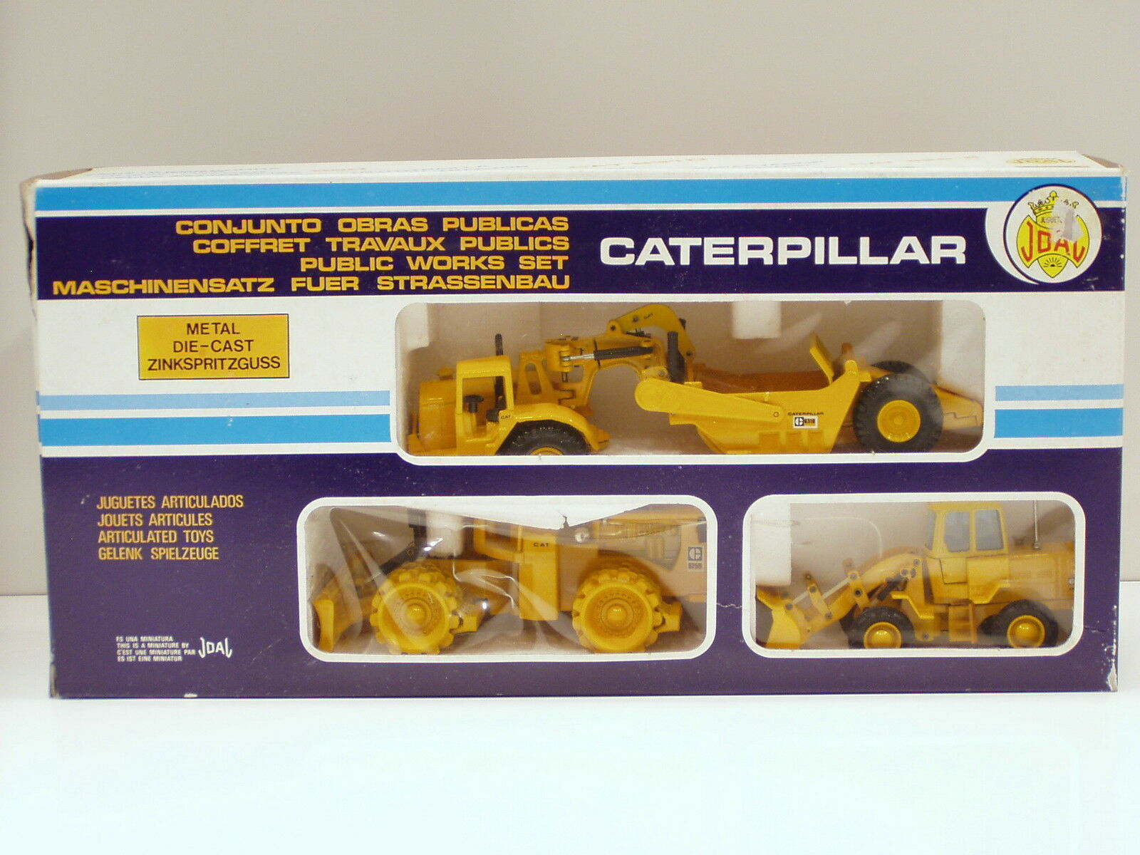 Caterpillar Public Works Set D, 825B, 920 - - - 1 50 & 1 70 Joal MIB 9f4c05