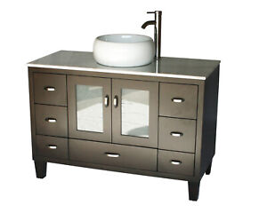 Details About 46 Inch Contemporary Style Single Sink Bathroom Vanity Model 2292
