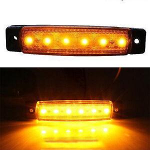 Orange-Amber-12V-6LED-SMD-Truck-Trailer-Bus-Side-Marker-Indicators-Lights