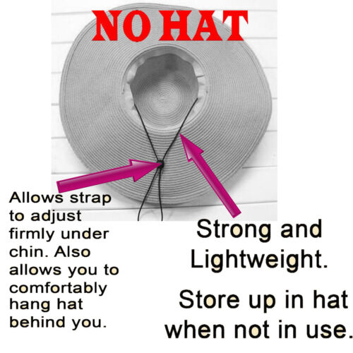 No Hat Mens Cowboy Hat Chinstrap /& Toggle,Windproof TWO Hat Chin Strap Cord