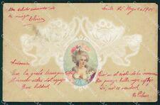 Art Nouveau Lady Pizzo Merletti OPF postcard cartolina QT5822