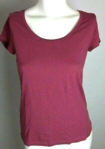 ANN TAYLOR LOFT Women's Top Medium Purple Short Sleeve Scoop Neck M