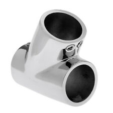 """2x 316 Stainless Steel Bow /& Boat Hand Rail 60 Degree Tee Fitting 1/"""" Tube"""