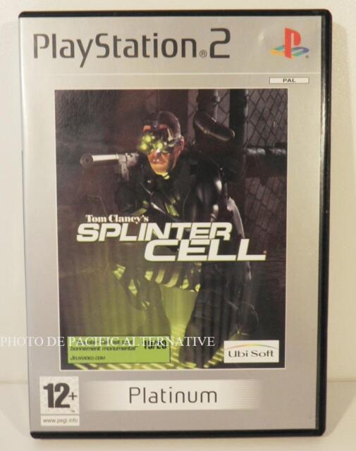 jeu TOM CLANCY'S SPLINTER CELL platinum pour playstation 2 sony PS2 francais