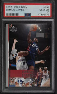 Pop 22🔥2007 Upper Deck Basketball LeBron James #192 PSA 10 GEM MINT