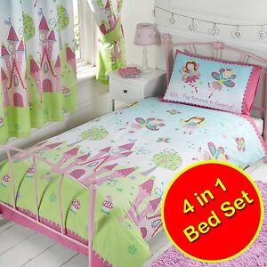 Fairy-Princesse-Sleeping-4-IN-1-Set-Couette-Literie-de-Junior-Neuf