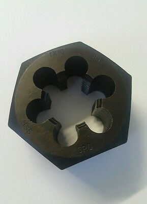 "Purposeful 1"" X 10 Bsf Hex Die Nut Hss 6 Flute Made In England #d9 Business & Industrial"