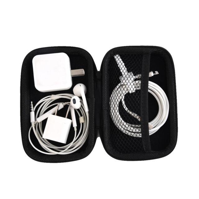 Black Waterproof Carrying Case Box Headset Earphone Earbud Storage Pouch Bag NEW