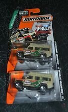 2015 MATCHBOX ON A MISSION LAND ROVER DEFENDER 110 MBX EXPLORERS SET OF TWO