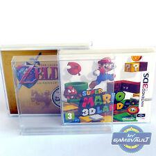 3 X Protectores De Caja De Juego De Nintendo 3DS Plástico Pet 0.4mm caso de exhibición se ajusta Sellado
