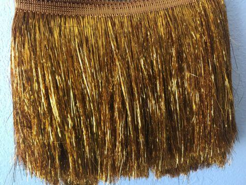 """Nappa Frangia//Nappa Frange Trim DECORAZIONI LAMETTA materiale 20cm 8/"""" 5 COLORI"""