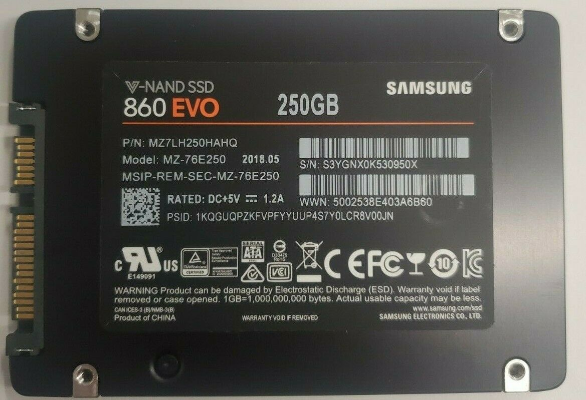 Samsung 860 EVO MZ-76E250 250GB 2.5