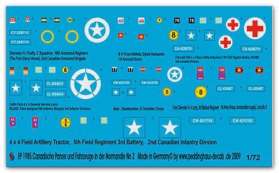 1/72 Decals für Kanadische Fahrzeuge in der Normandie 2 1985
