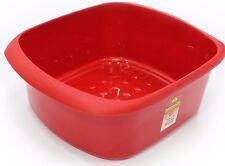 LARGE RECTANGULAR PLASTIC WASHING UP BOWL - TML - SINK BOWL - GLITTER RED