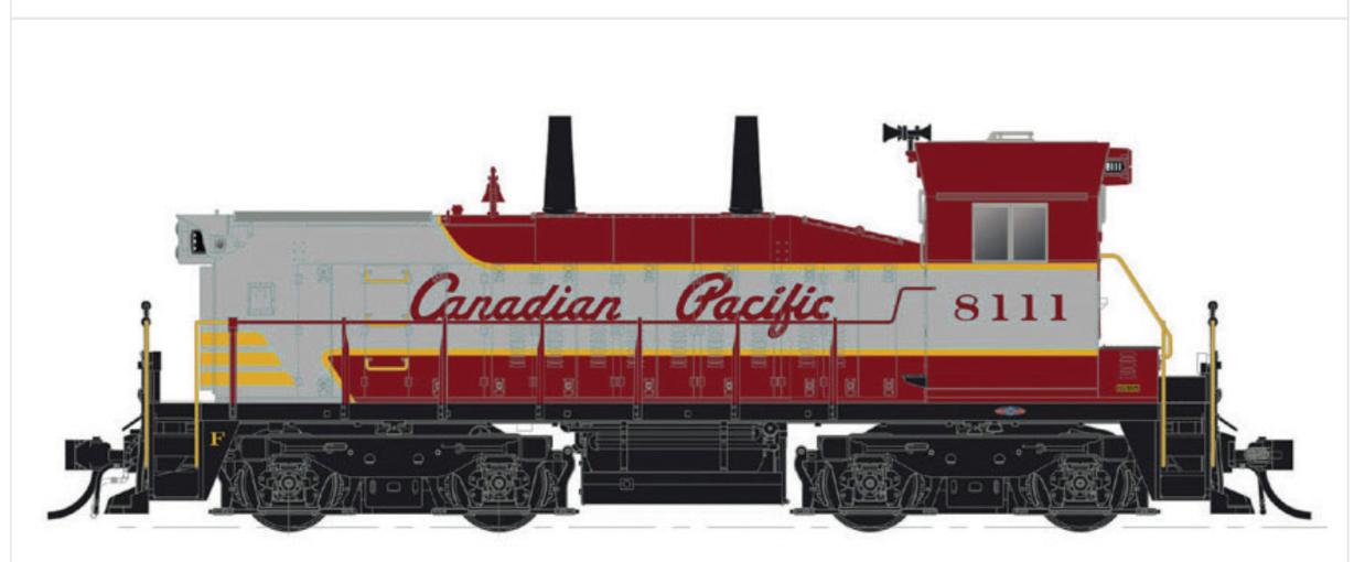 RAPIDO 1/87 1/87 1/87 HO CP CANADIAN PACIFIC SW1200 RS RD.  8139 DCC & SOUND 26510 F/S d5e876
