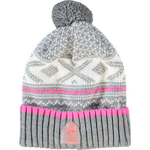 1281efda090 Image is loading SUPERDRY-Women-039-s-ARETE-Fairisle-Knitted-Bobble-