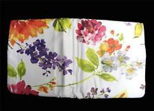 3 Pc Raymond Waites Bold Colorful Floral QUEEN Sateen Duvet Cover & 2 Shams NIP