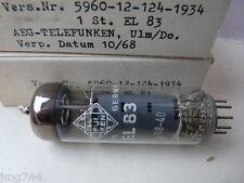 EL83 TELEFUNKEN <>  1068 NOS VALVE TUBE 1 PC J