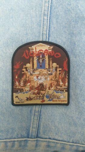 Sepultura Vulcano woven patch thrash metal sarcofago slayer sodom kreator