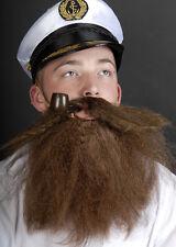 Brown Bushy Caveman Fancy Dress Fake Beard