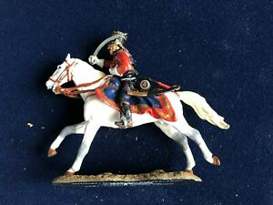 SOLDAT-DE-PLOMB-CAVALIER-EMPIRE-OFFICIER-HUSSARD-FRANCE-1807