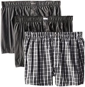 Calvin-Klein-Mens-Underwear-3-Pack-Cotton-Classic-Woven-Boxers-Pick-SZ-Color