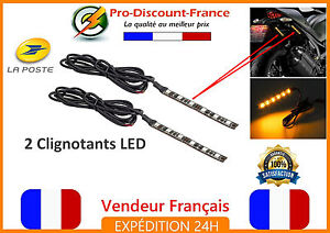 2-x-Clignotant-6-LED-Moto-Scooter-Quad-12V-Adhesif-Bande-Flexible-Clignotants