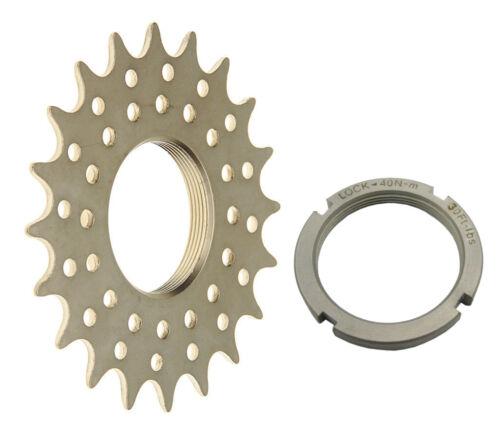 Mr Control TRST 3//32 Pro Track Cog /& Lockring Fixed Gear Bike Hardnd CroMo//Nickl