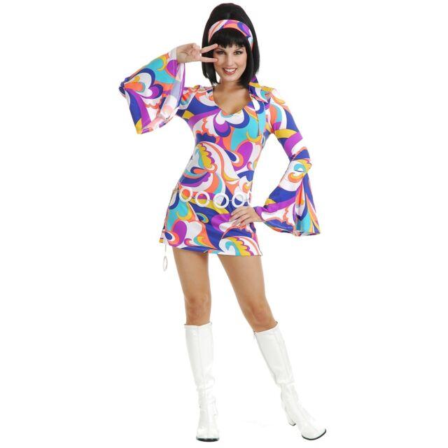 disco hottie adult sexy gogo girl 1960s go 1970s hippie halloween costume
