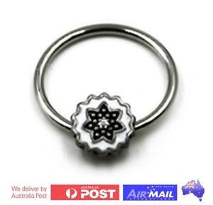 Floral-Captive-Bead-Ring-Ball-CBR-Piercing-Flower-Cartlidge-Lip-Ear-Earring