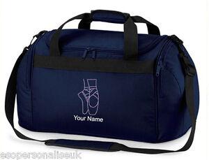 Personalised-BALLET-DANCER-Mini-Holdall-Travel-kit-Bag-Named-Slogan-Girls-Gift