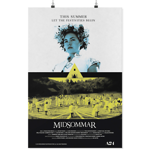 Midsommar Horror Movie Ari Aster Horror Film Silk Canvas Poster Print 24x36 inch